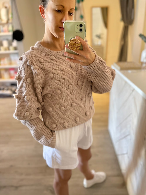 Angelina Chunky Knit | Dusty Pink