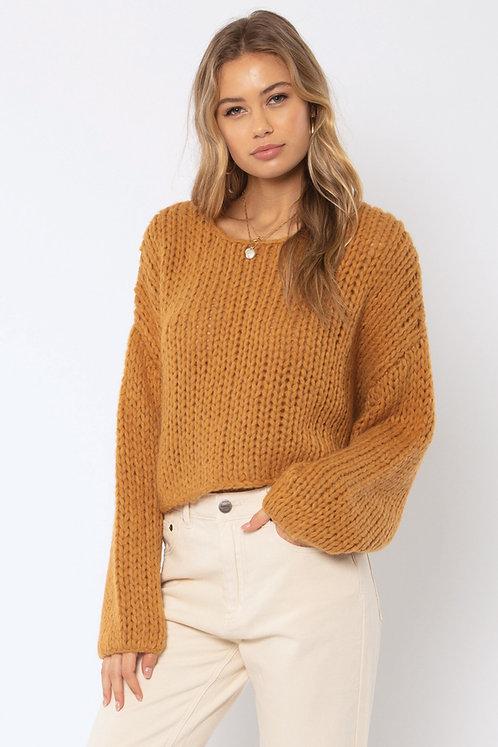 AMUSE SOCIETY | Desert Skies Knit Sweater | Amber Light