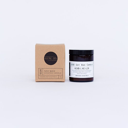 ELECTRIC EYES | Herbal Healer 100% Soy Wax Candle | Small 140g