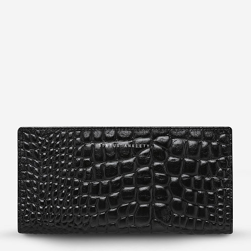 STATUS ANXIETY | In The Beginning Wallet | Black Croc Emboss