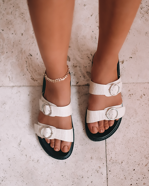 Billini Ziba | White Clay Croc