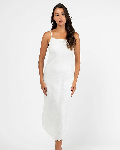 Danny Slip Dress | White Linen