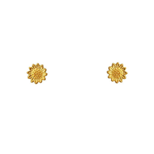 MIDSUMMER STAR | Gold Delicate Sunflower Studs