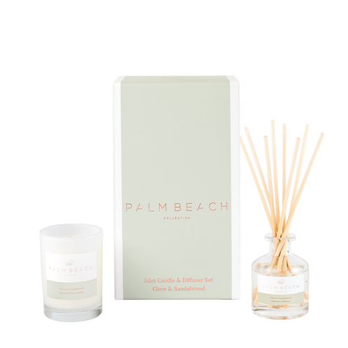 PALM BEACH COLLECTION | Clove & Sandalwood Mini Candle & Diffuser