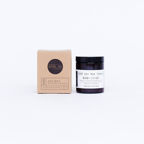 ELECTRIC EYES | Berry-Licious 100% Soy Wax Candle | Small 140g