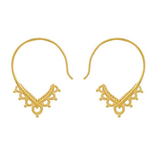 MIDSUMMER STAR | Delicate Henna Hoops Gold