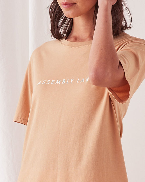 ASSEMBLY LABEL   Logo Crew Tee   Taupe