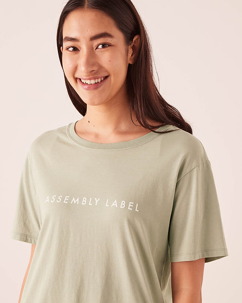 ASSEMBLY LABEL | Logo Cotton Crew Tee | Soft Green