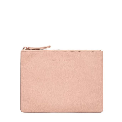 STATUS ANXIETY | Fake It Clutch | Dusty Pink