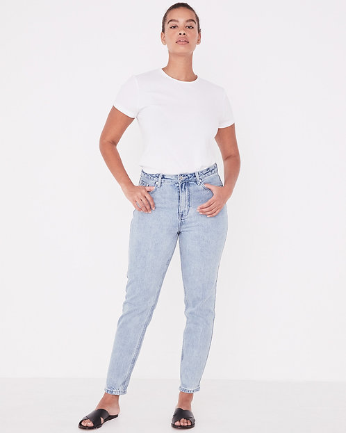 ASSEMBLY LABEL | High Waisted Rigid Jean | Stone Blue