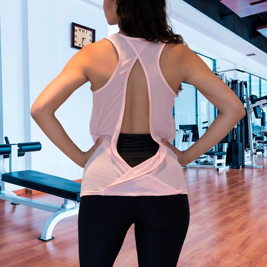 Womens Cross Backless Workout Tops