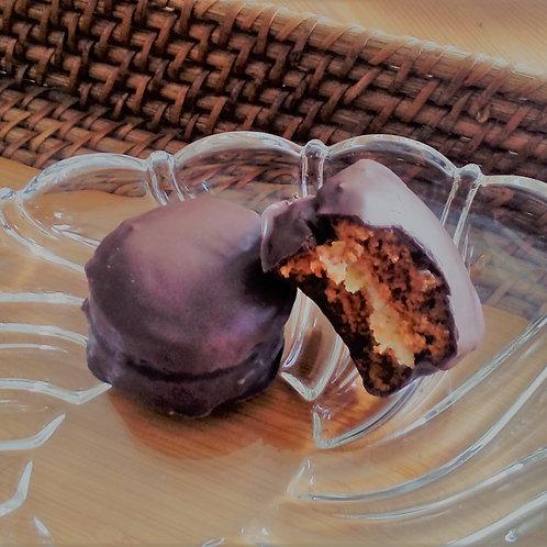 Pão de Mel recheado com creme de damasco (médio) 50 unidades