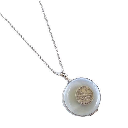 Sterling Silver Large Round Locket