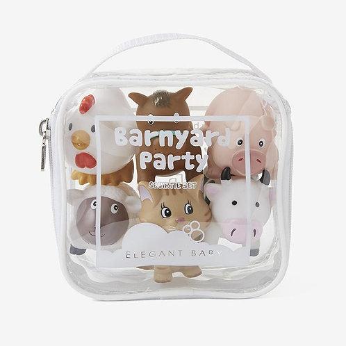 Barnyard Party Squirtie Baby Bath Toys
