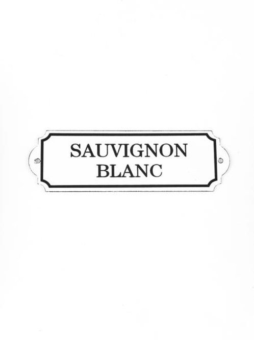 Enamel Sauvignon Blanc Sign