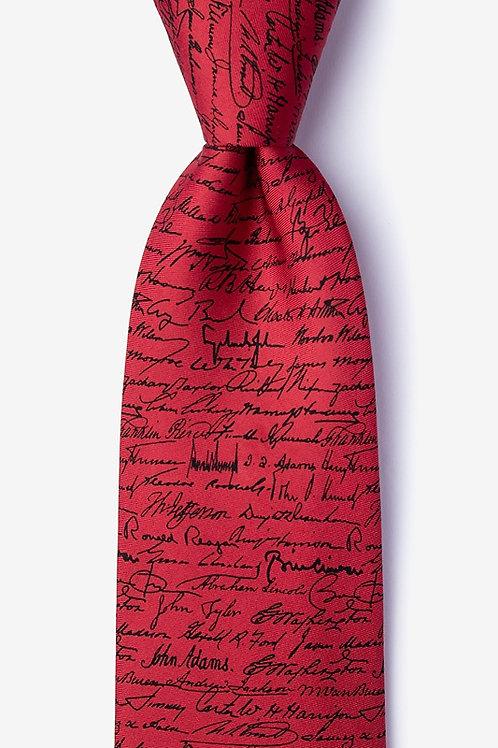 """""""Presidential Signatures"""" Silk Tie"""