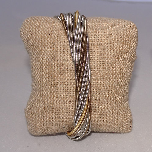 Tri-Color Sea Lily Piano Wire Bracelet