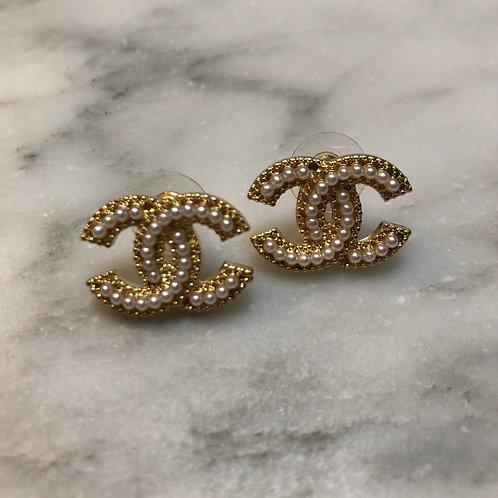 Designer Inspired Pearl Earrings