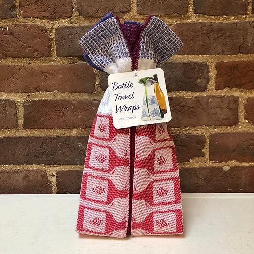 Bottle Towel Wrap - Wine Glasses