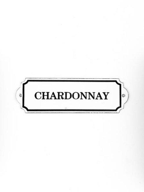 Enamel Chardonnay Sign