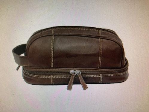 Men's Toffee Leather Dopp Kit