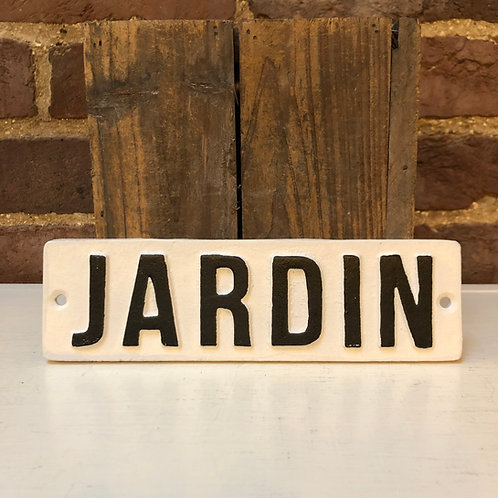 Cast Iron JARDIN Wall Plaque