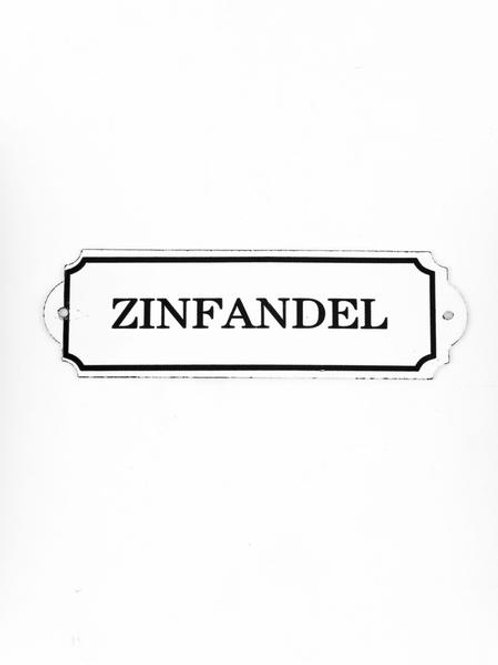 Enamel Zinfandel Sign