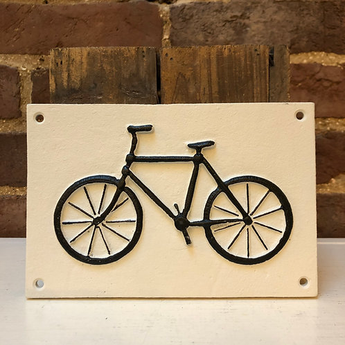 Cast Iron Bike Wall Plaque