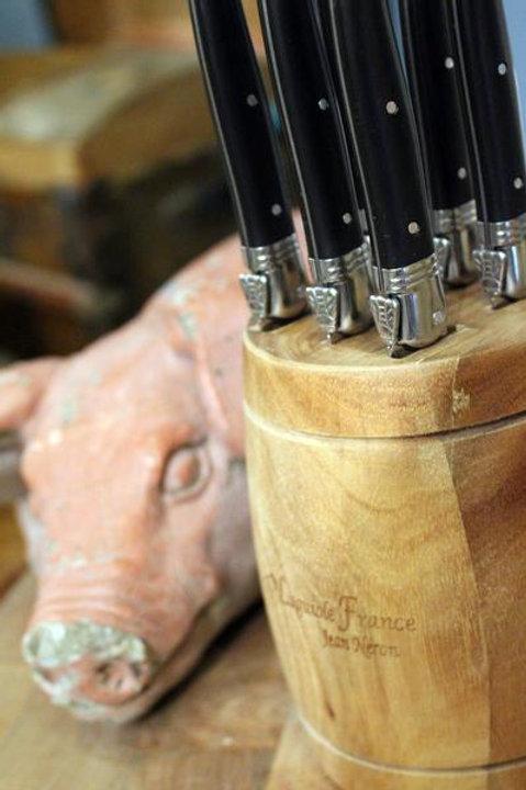 Laguiole Black Steak Knives