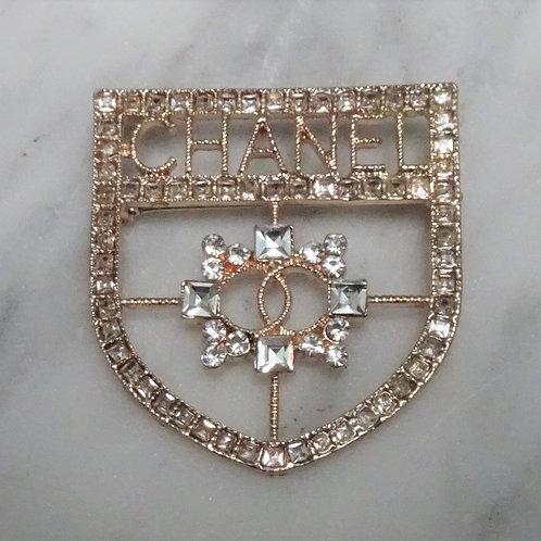 Designer Inspired Rhinestone Pin