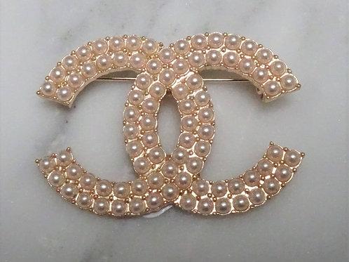 Designer Inspired Faux Pearl Pin