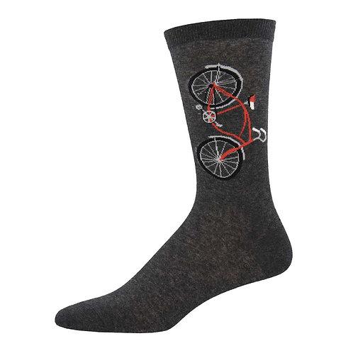 Bicycle Charcoal Heather Socks