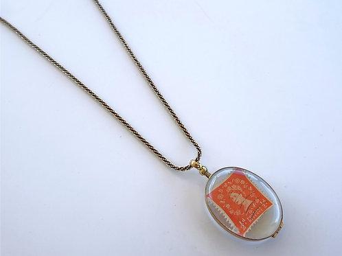 Brass & Glass Small Oval Locket