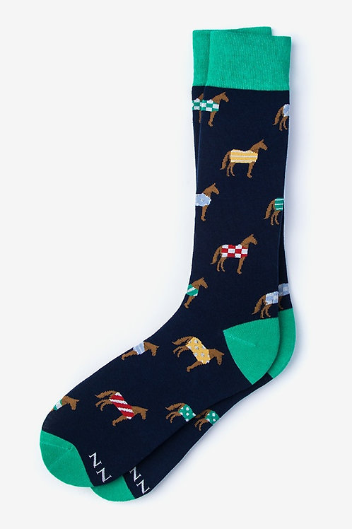 Horsin' Around Blue Socks