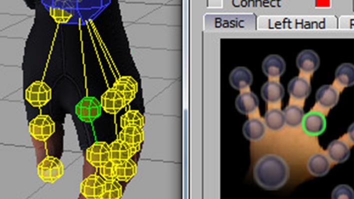 MotionBuilder Driver for 5DT Data Gloves