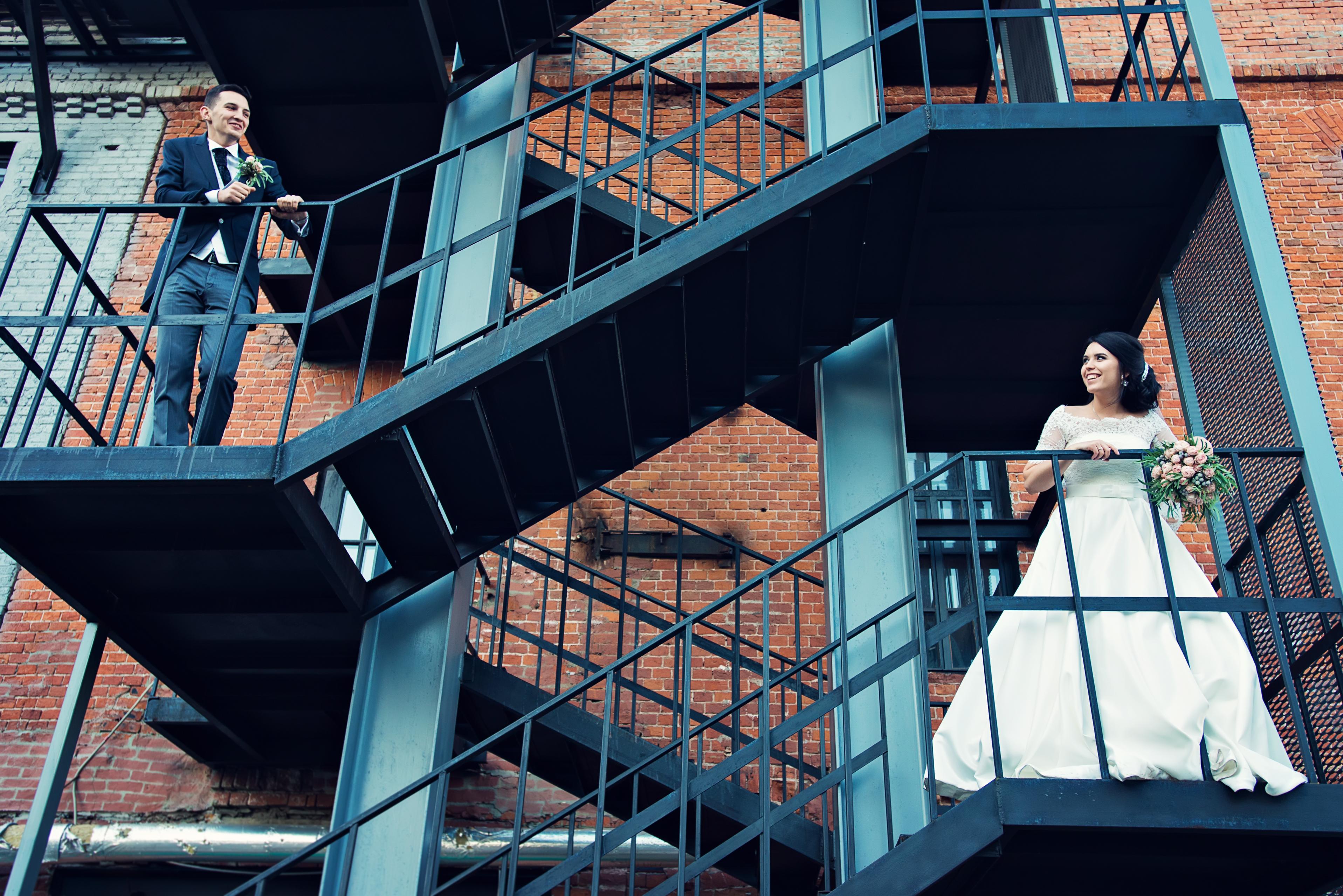 креативное свадебное фото