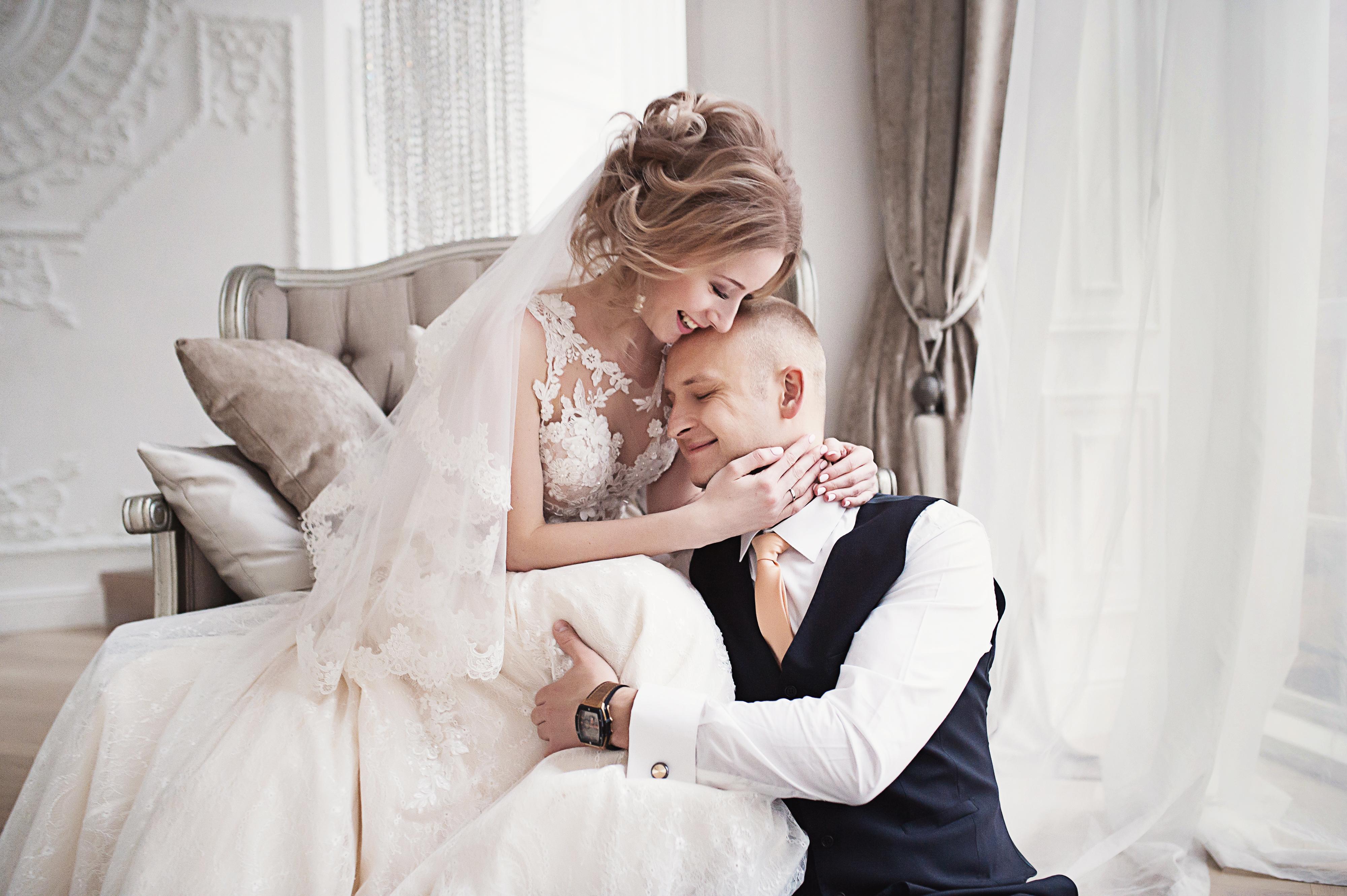 Трогательные свадебные фотографии