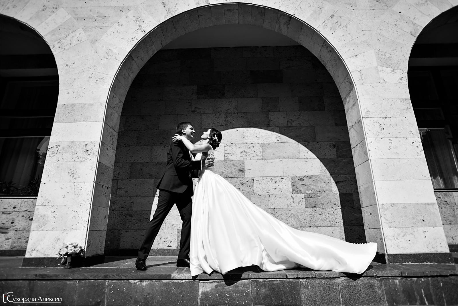свадьба чб