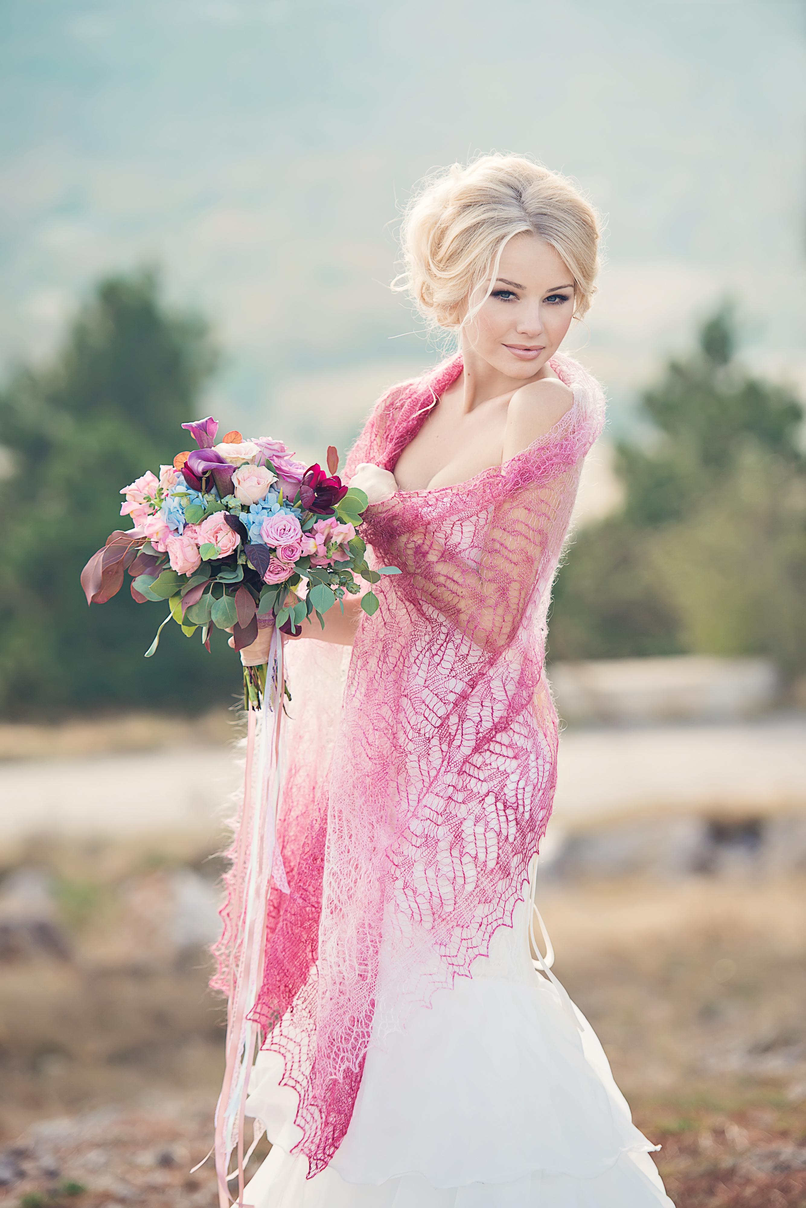 невеста в шали