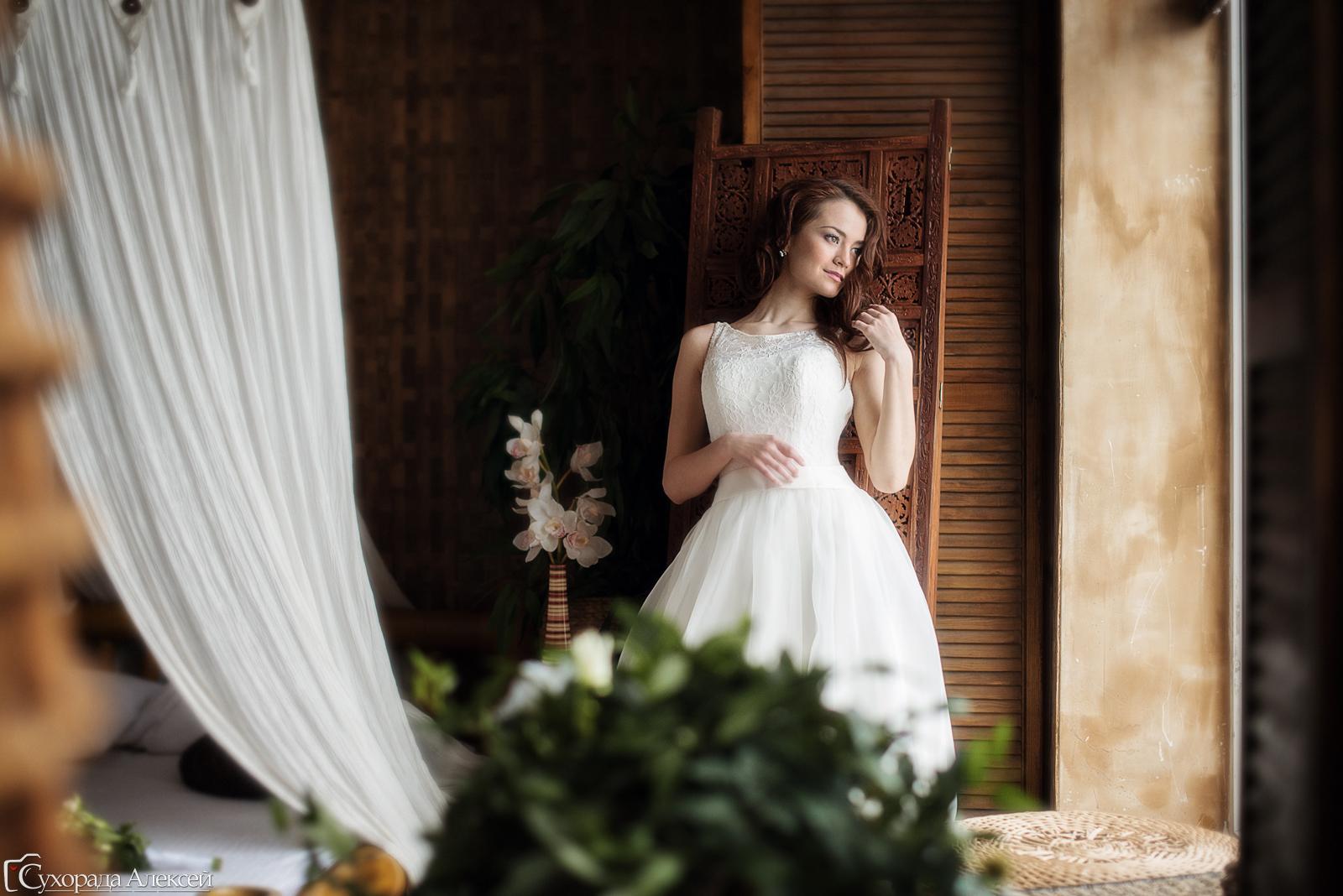 сборы невесты в фотостудии