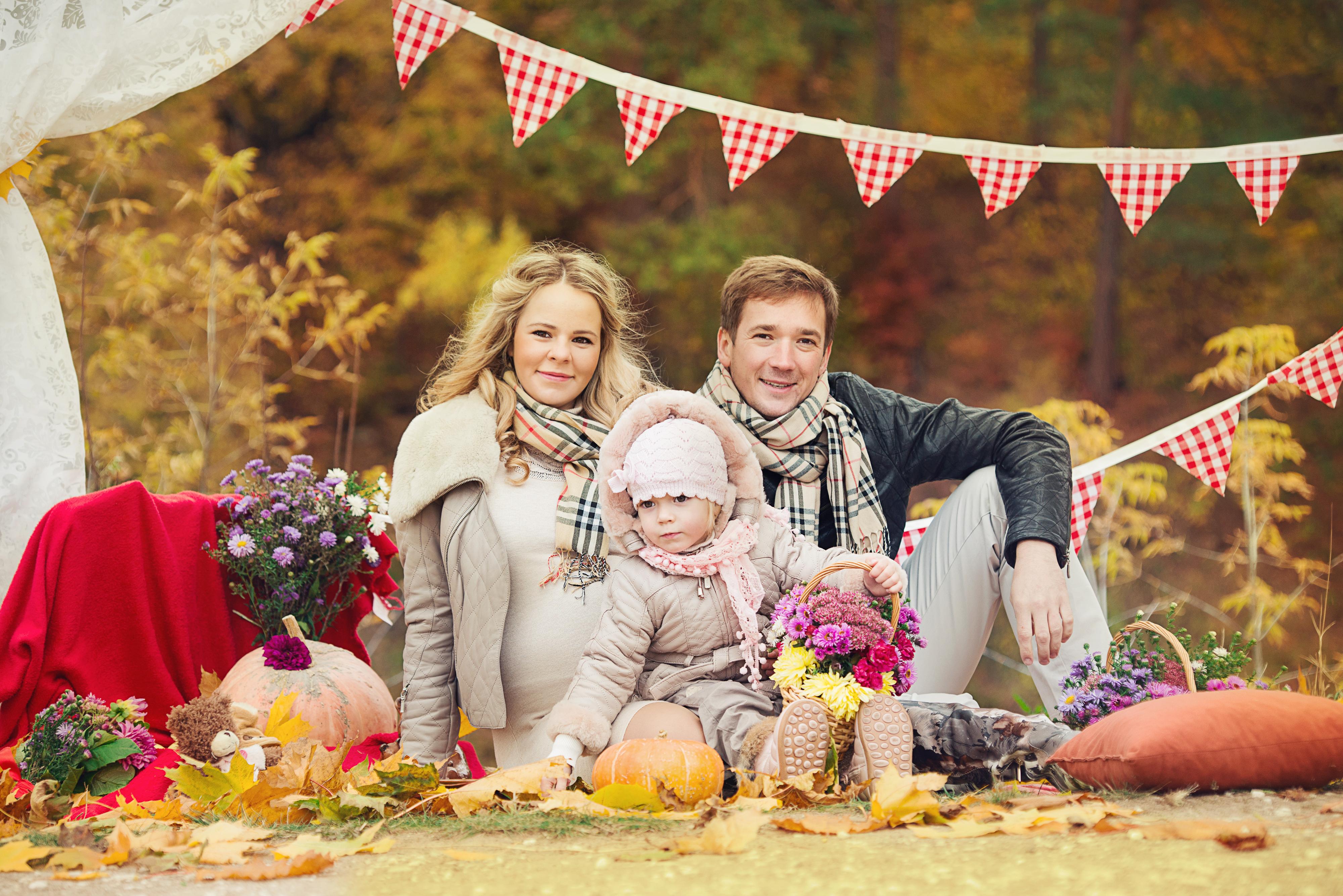 семейная фотосессия осенью Москва
