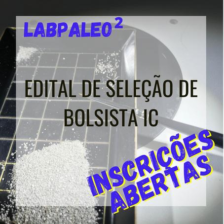 Edital de seleção de bolsista LabPaleo2