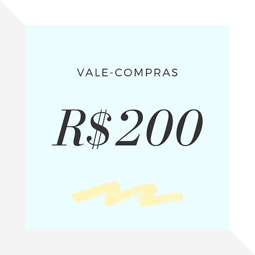 Vale-Compras R$200
