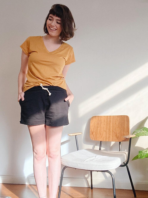Camiseta Aoife | mostarda