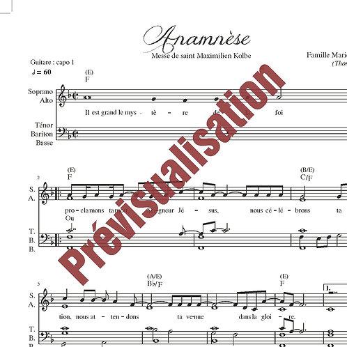 Anamnèse (Messe de St Maximilien Kolbe)