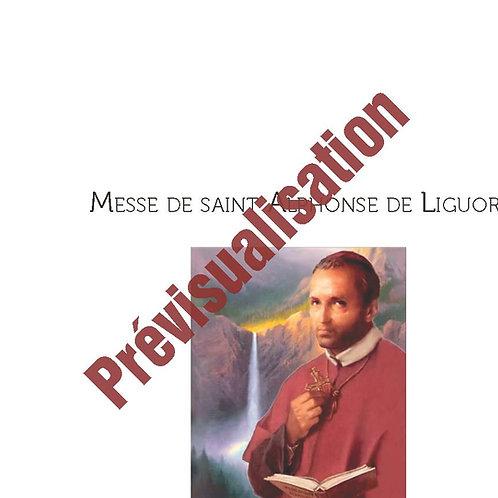 Messe de St-Alphonse de Liguori