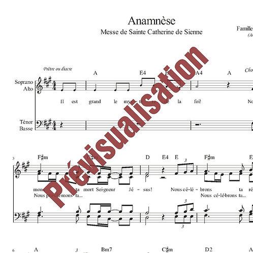 Anamnèse (Messe de Ste Catherine de Sienne)