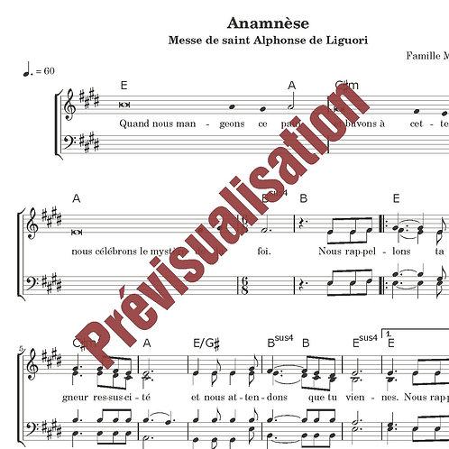 Anamnèse (Messe de St Alphonse)