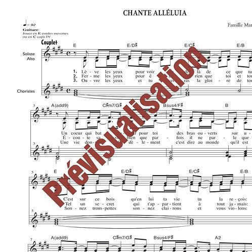 Chante Alléluia