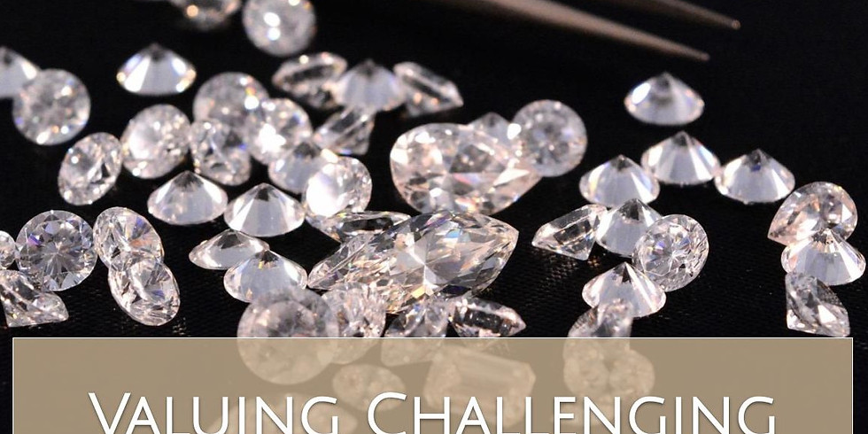 Valuing Challenging Diamonds and Gems